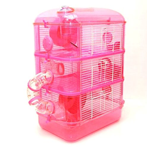 Http Www Northeastpetsupplies Co Uk Fantazia Pink Hamster Cage Three Storey P 644 Html Small Animal Cage Hamster Cage Hamster Cages