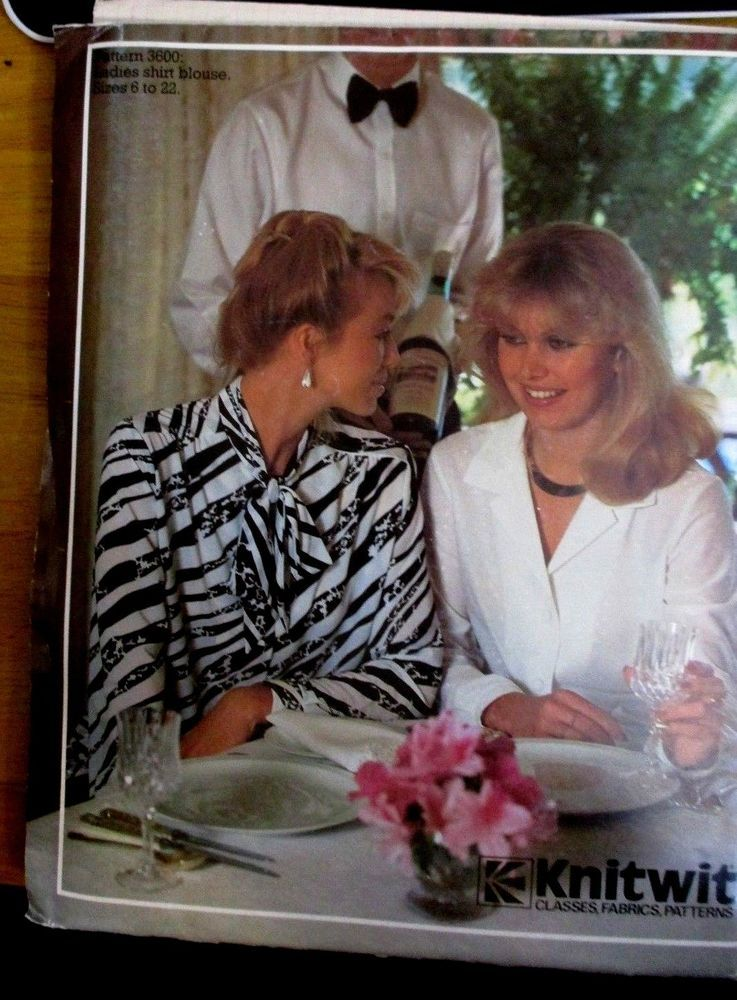 Knitwit sewing pattern no. 3600 sizes 6-22 ladies blouses   Sewing ...