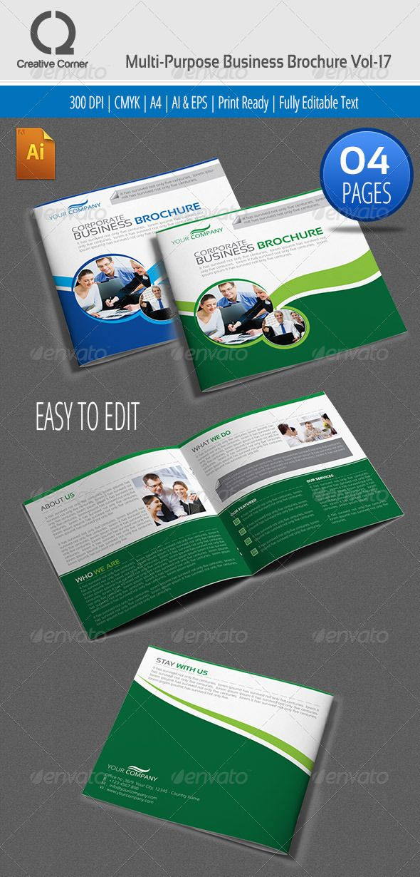 Multpurpose Square Business Brochure Vol Graphicriver An