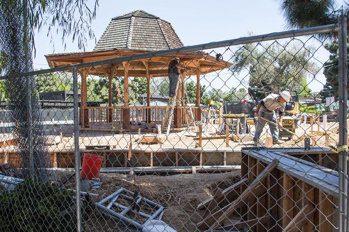 April 15, 2016 Concrete walls are put into place. http