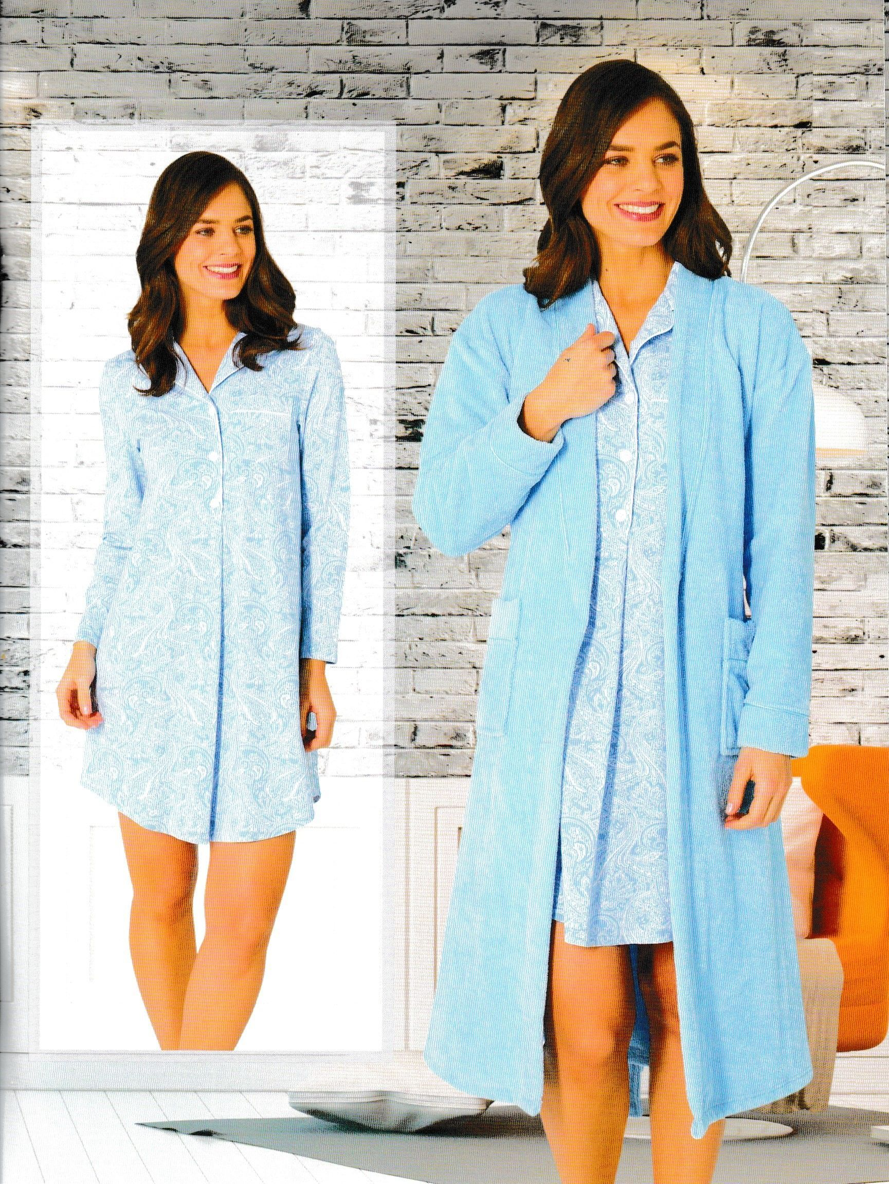 Baby blue and paisley. A classic from Givoni. #sleepwear #classic ...