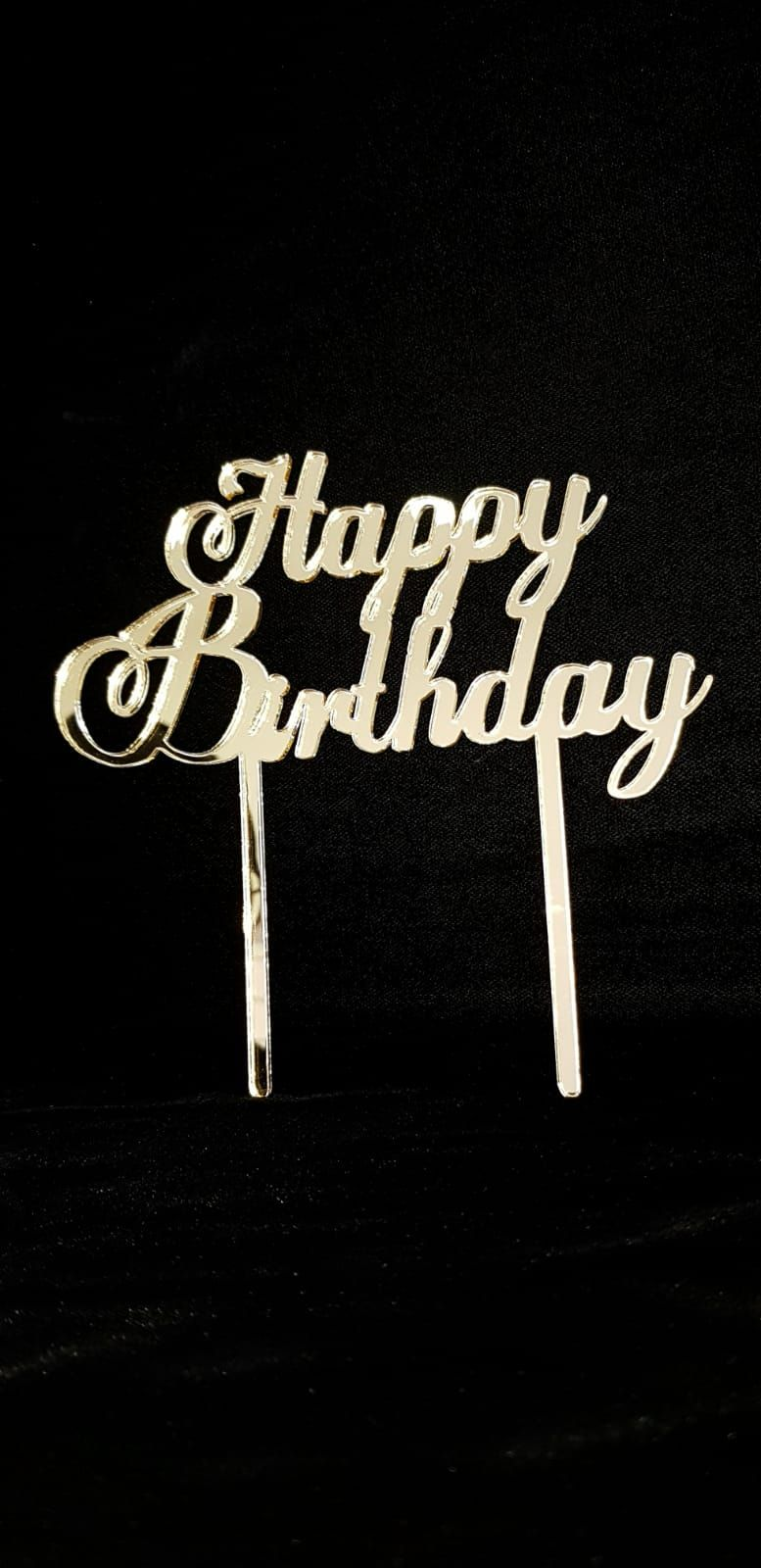 اكليريك هبي بيرثدي Acrylic Happy Birthday Acrylic Cake Topper Cake Toppers Happy