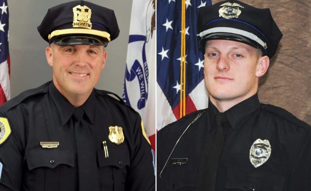 R I P Officer Justin Martin And Sergeant Anthony Beminio The Two Officers Were Ambushed While Continue Reading Police Officer Shot Police Police Officer
