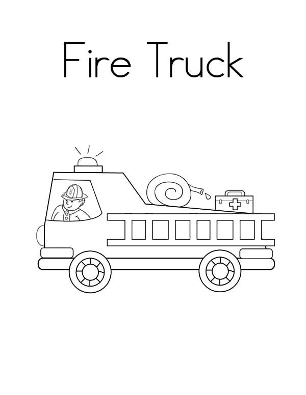 Preschool Fire Truck Coloring Page : preschool, truck, coloring, Drawing, Engine, Coloring, Pages, Color, Pages,, Truck, Trucks