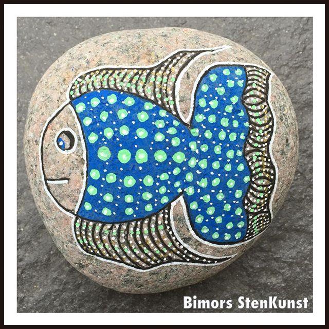 paintedstones#painting#fish#love used designs Pinterest Pebble
