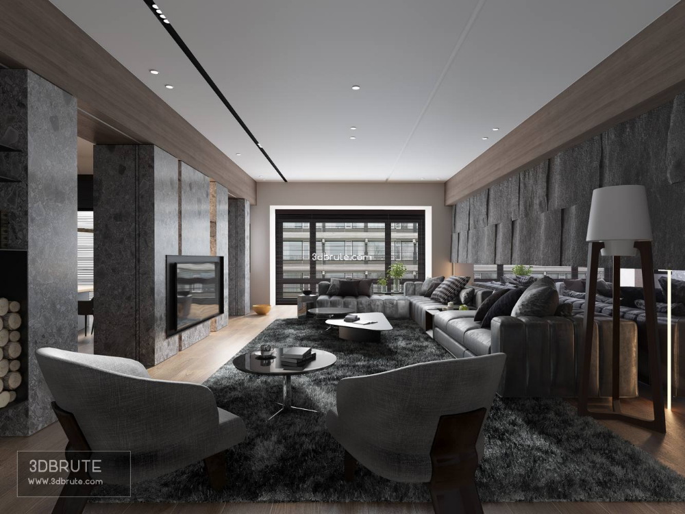 Living room download free 3dsmax (With images) Living