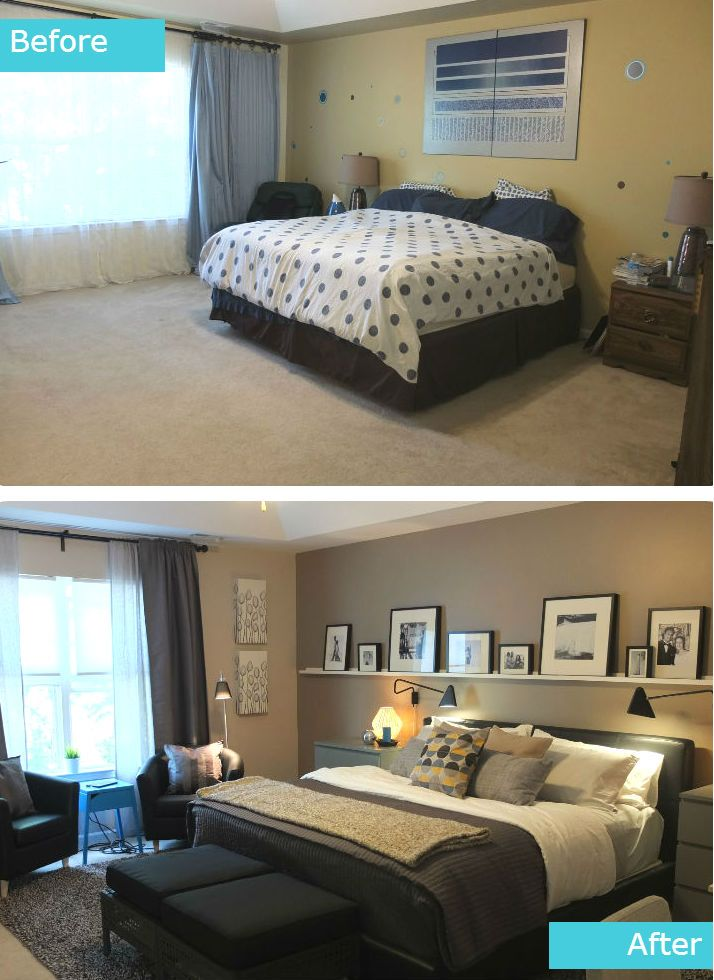 The pereira master bedroom was in need of an update the - Master bedroom ideas for small spaces ...