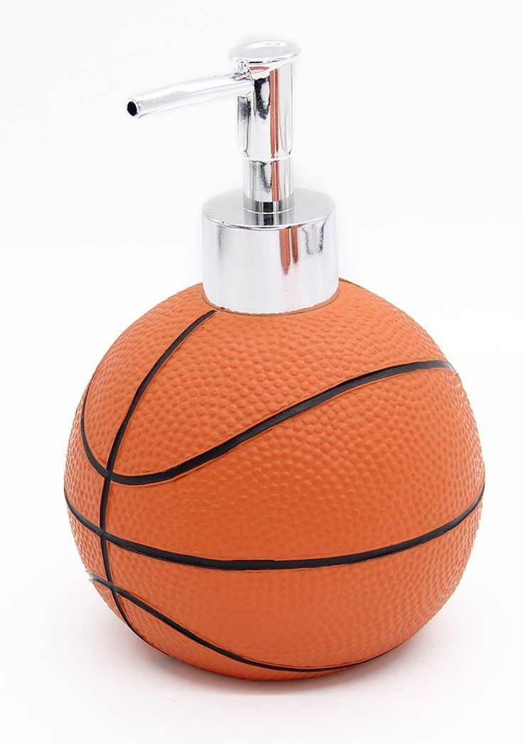 Basketball Bathroom Accessories 5 Piece Collection Set Is A Great Gift For  Basketball Fans! Great