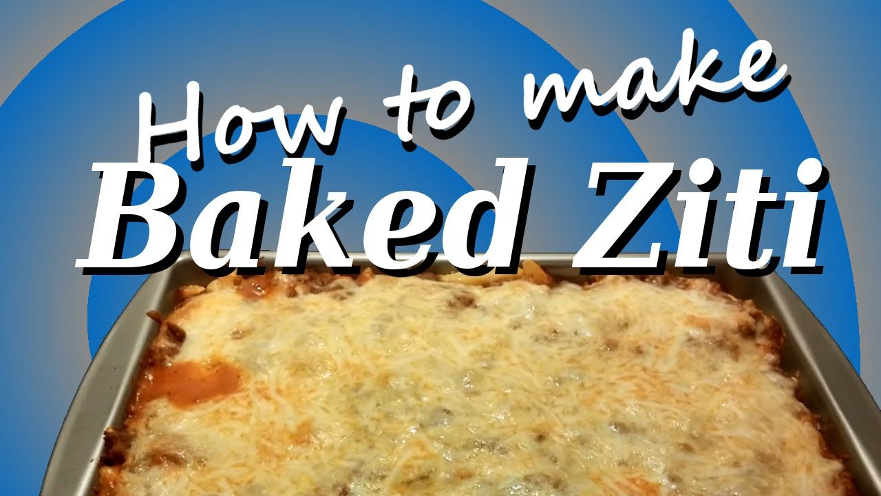 How to make Baked Ziti  Love lasagna but hate the hassle?  Baked Ziti is for you!  Chrissy teaches you her simple and delicious recipe for baked ziti.  How to make Baked Ziti