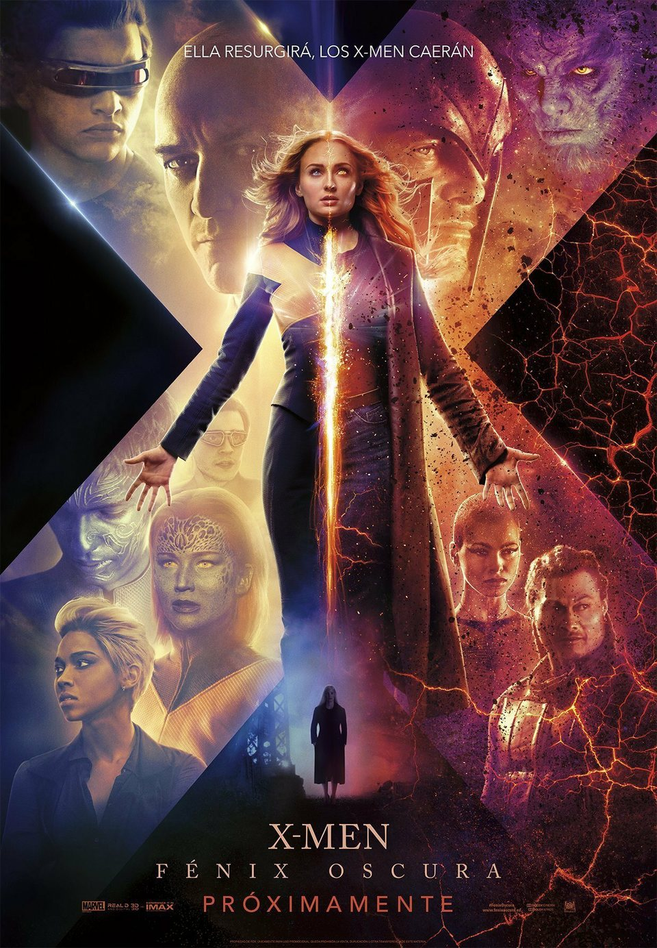 Cartel Poster Espanol De X Men Fenix Oscura 2019 Ecartelera Peliculas Completas Peliculas Completas Gratis Ver Peliculas Online