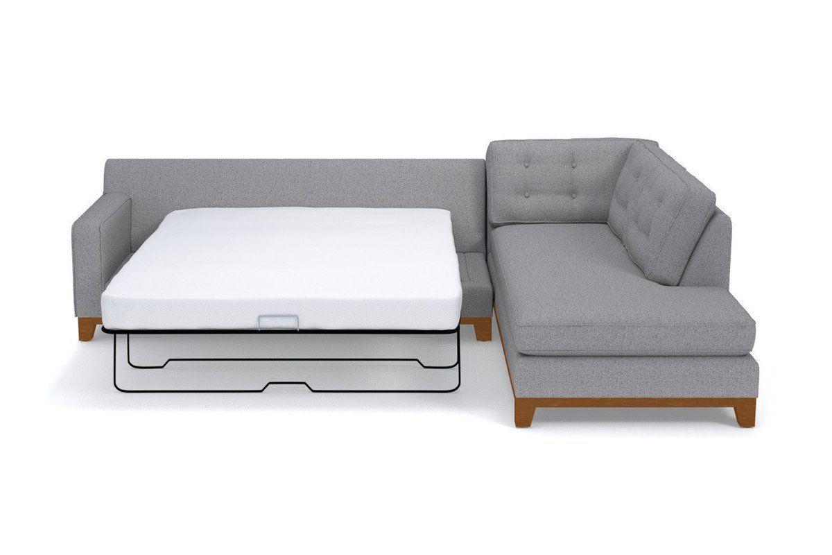 Superb Brentwood 2Pc Sleeper Sectional Leg Finish Pecan Creativecarmelina Interior Chair Design Creativecarmelinacom