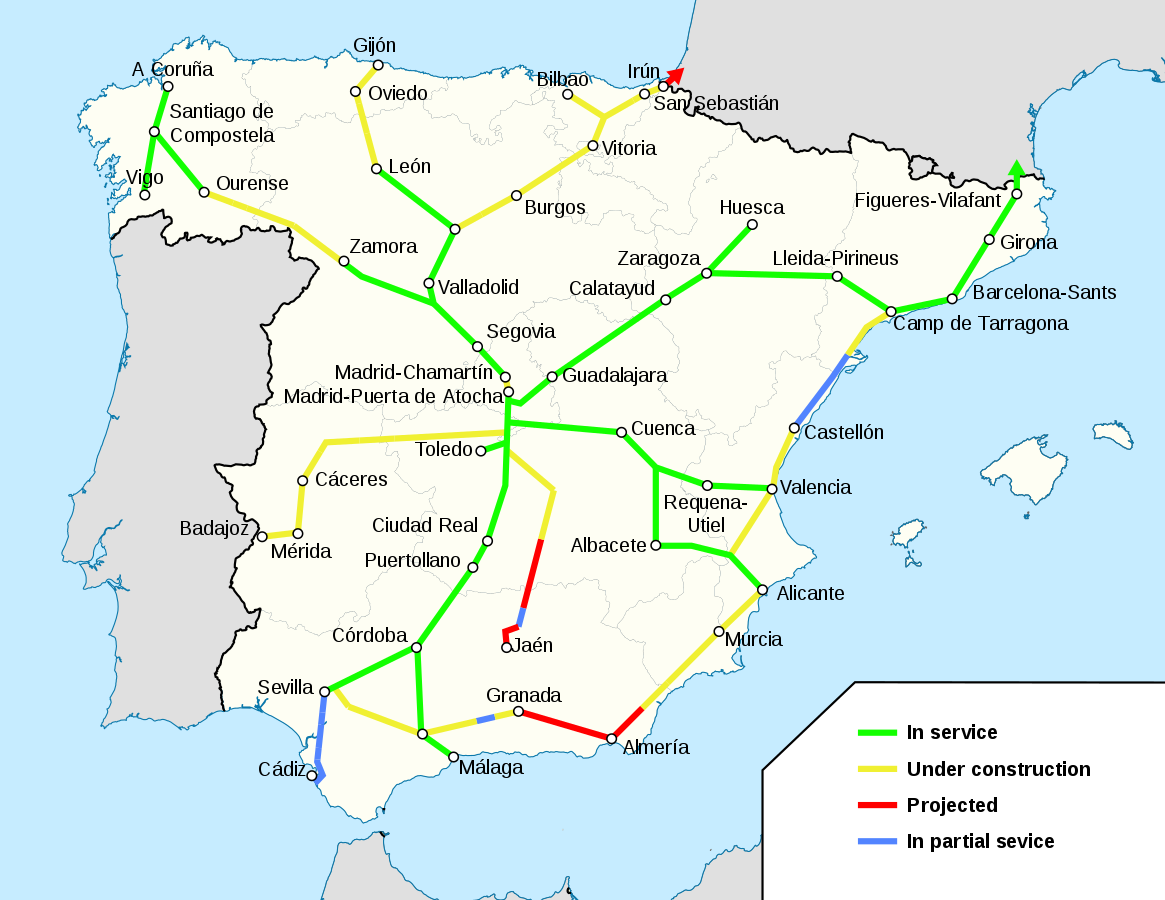 Travel Map Of Spain.How To Travel By Train In Spain Ave Guide For Every Traveller