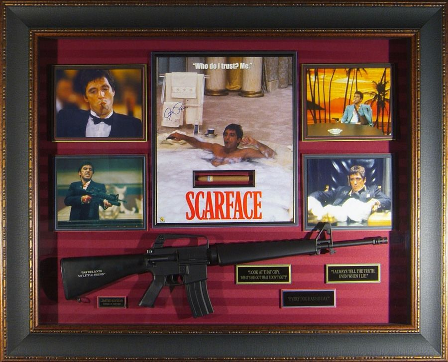 scarface collector artwork hollywood movie memorabilia millionaire gallery