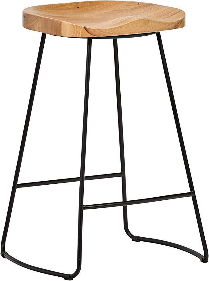 amazon rivet modern industrial wood and metal kitchen