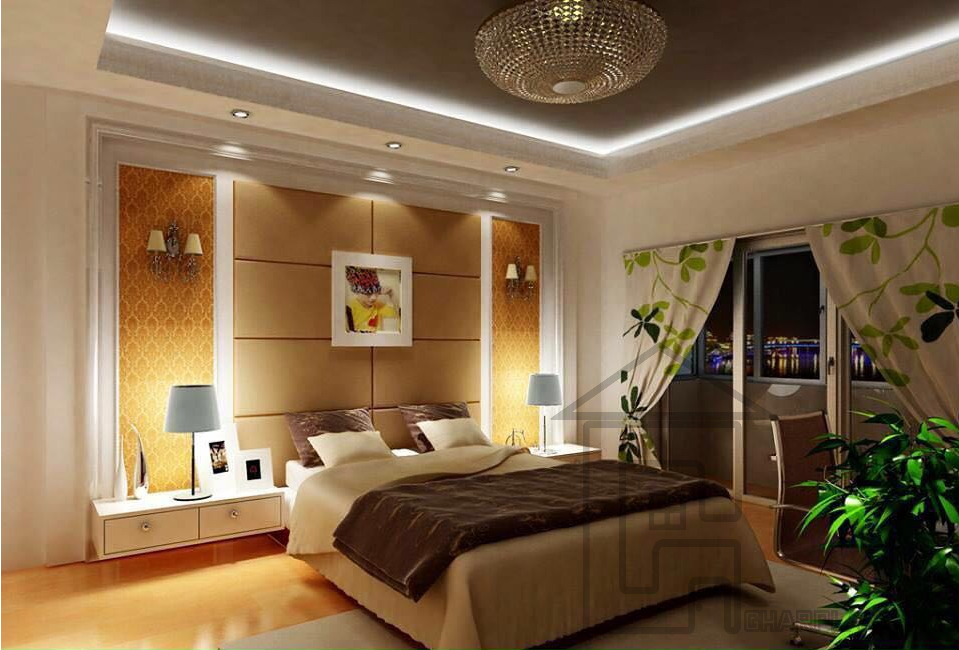 Bedroom Designed Beautifully And Decorated Nicely In Karachi Pakistan Which Gives Serene Modern Bedroom Interior Ceiling Design Bedroom Modern Bedroom Design