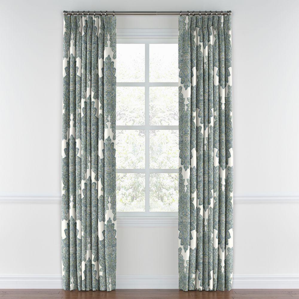 Paisley-Style-Aqua-Damask-Pleated-Curtain-Front