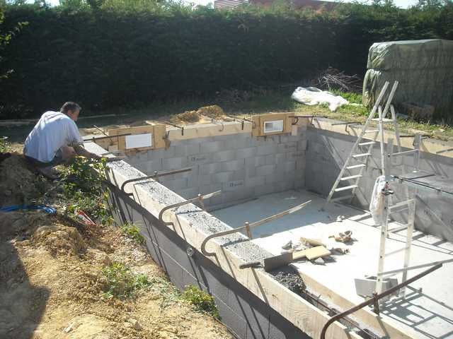 radier piscine pool_water Pinterest Pool water and Construction - piscine en bloc a bancher