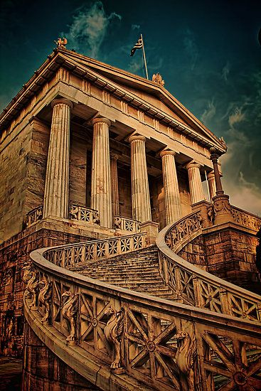 National Library - Athens, Greece #stairs #ExpediaThePlanetD My Canons are getting envious of my time wunderlusting. Like I'd take this trip with out taking at least one!