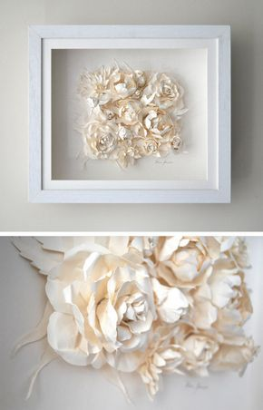 Paper Flower Cluster – I would love to do this with yellow roses or blue bonnets…