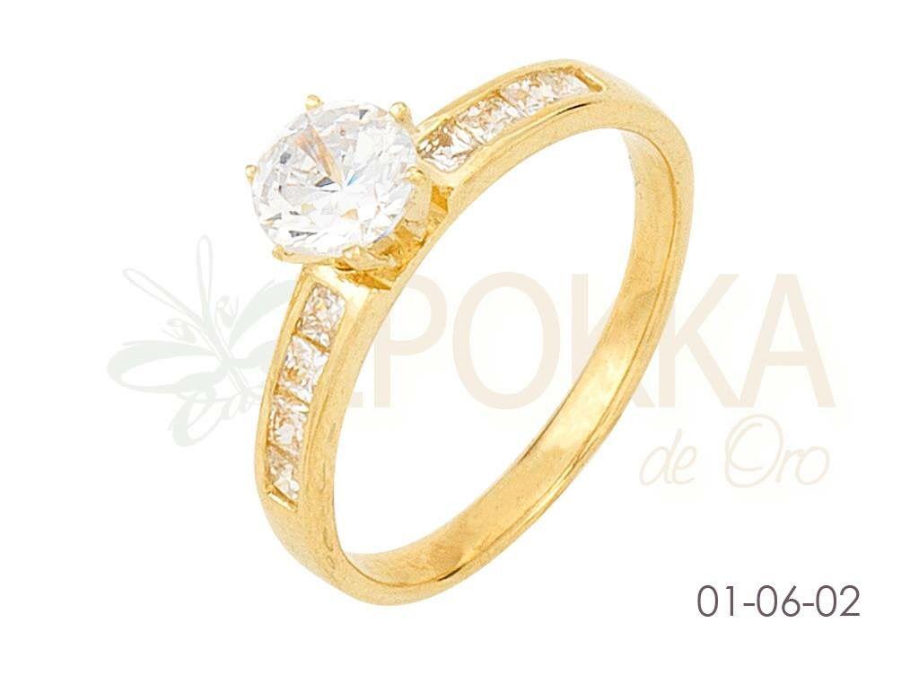 9514c3949f16 Anillo compromiso oro amarillo 10k Modelo 01-06-2