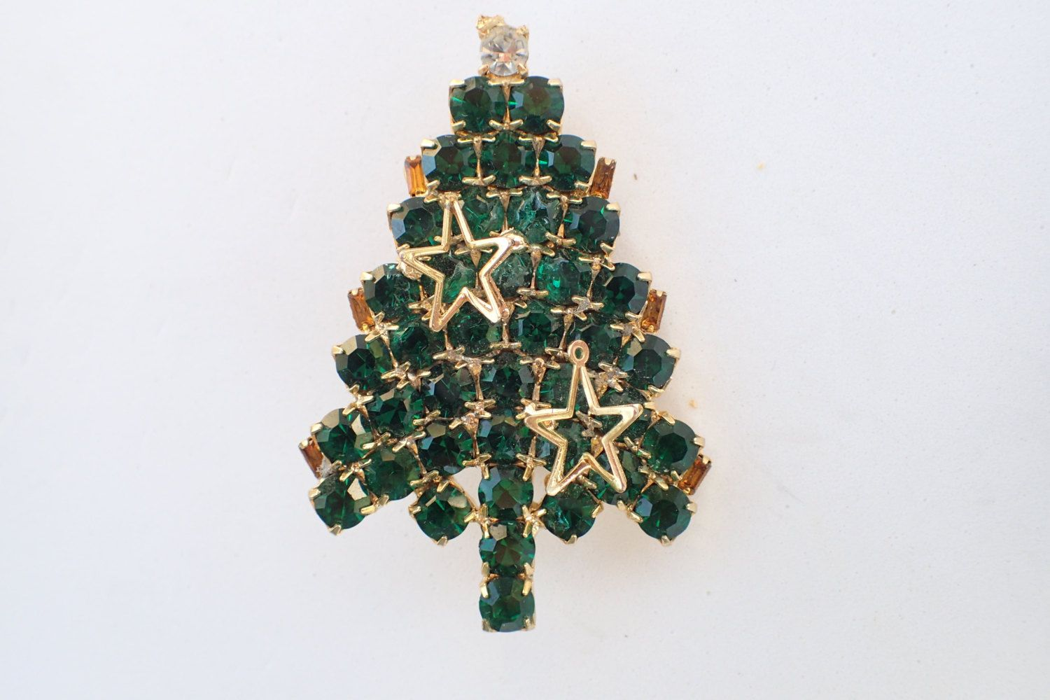 Vintage Gale and Friends Christmas Tree Brooch AB402 by MeyankeeGliterz on Etsy