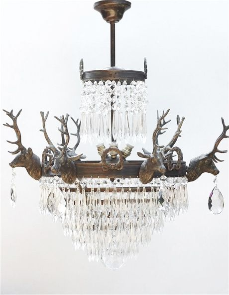 Find This Pin And More On Lighting Stag Head Chandelier By The Vintage Company