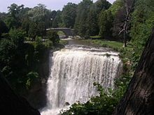 Our Canadian Sister City is Hamilton, Ontario.  Hamilton is known not only for being a city on Lake Ontario, but also a city of waterfalls
