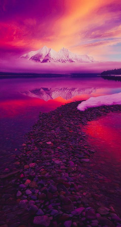 A Portrait Of A Mountain Lake Mcdonald Mcdonalds And