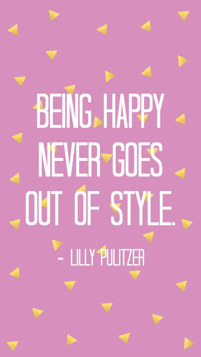 Pink gold Being Happy Lilly quote iphone phone wallpaper background lock screen  Quotes