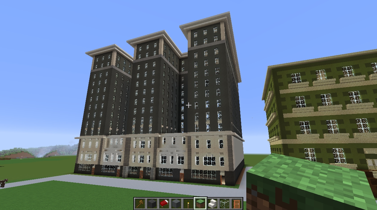 Minecraft Apartment Complex I Built Today This Is A Rebuild From My Old Pe Account