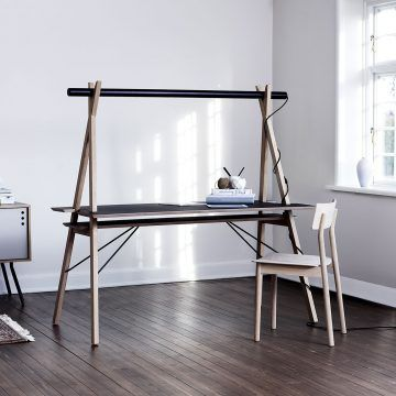 AA Desk: Overcomplicated And Stark Design, However, A Great Concept Of  Having A Table Light Integrated Into The Furniture.