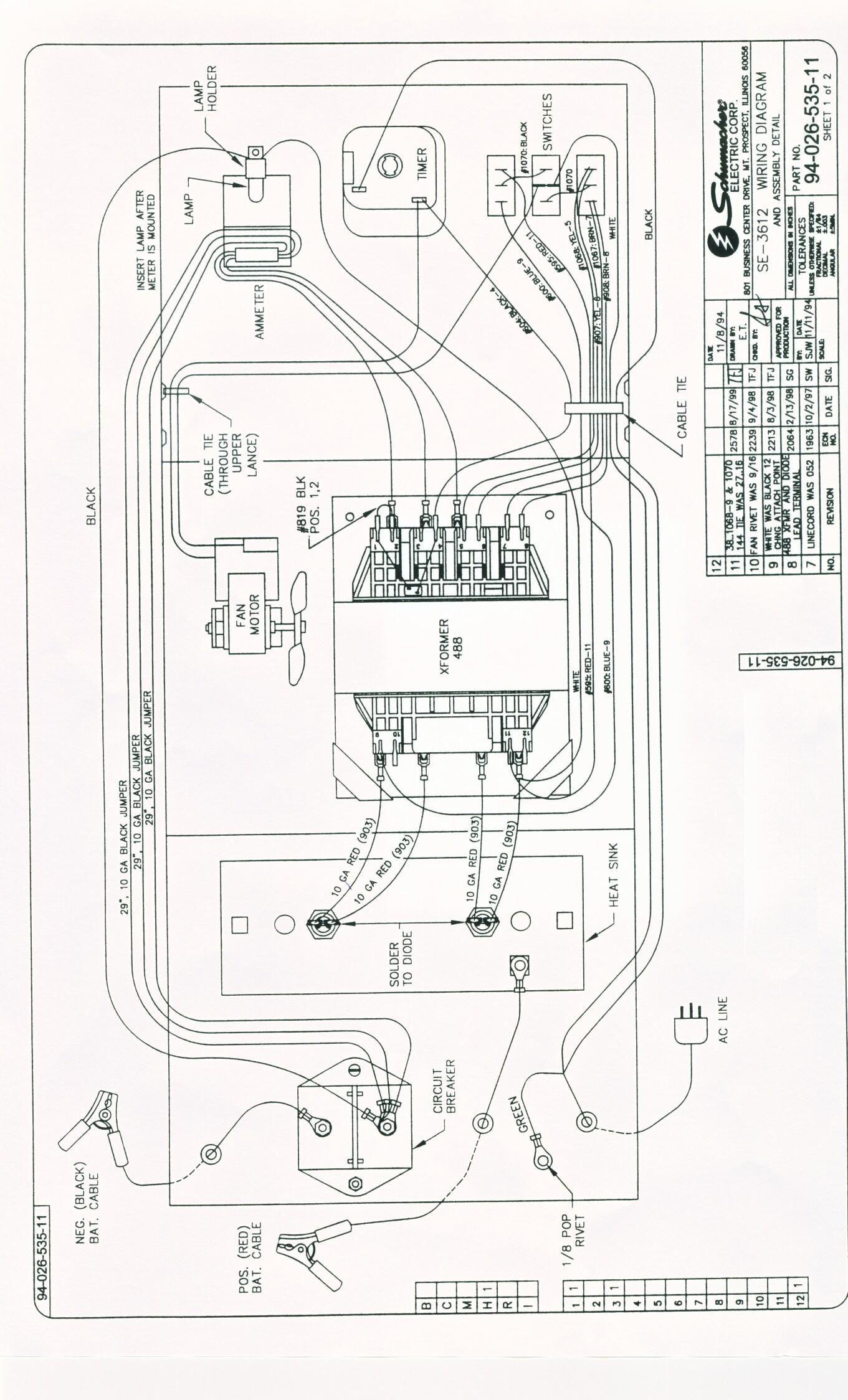 Elegant Schumacher Battery Charger Wiring Diagram in 2020