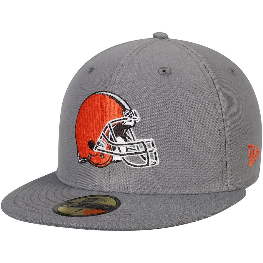 Men S New Era Graphite Cleveland Browns Storm 59fifty Fitted Hat Cleveland Browns Hats For Men New Era Cap