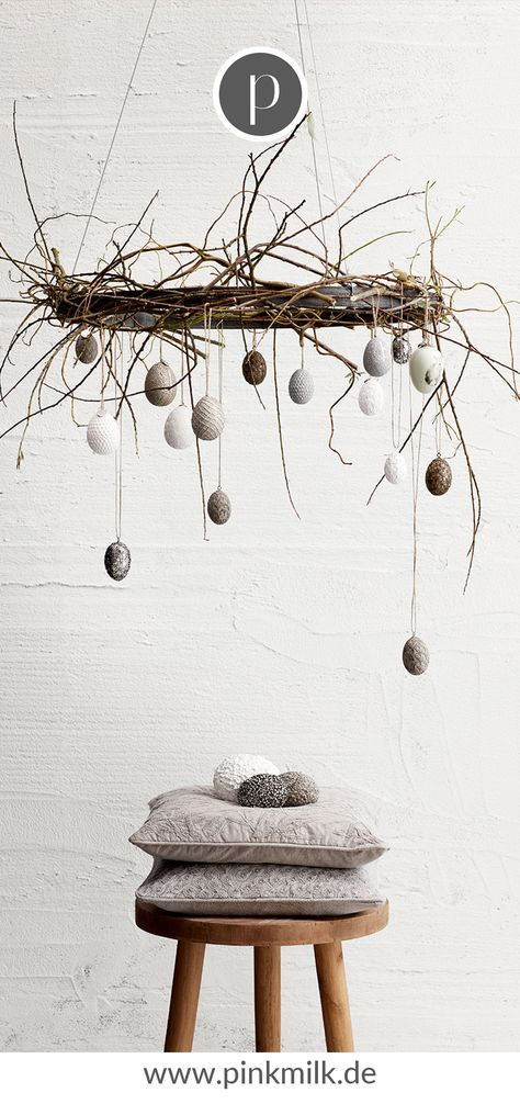 Photo of Decorative pendant Easter egg Estea in white | pinkmilk.de
