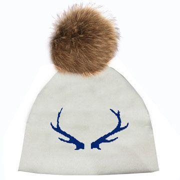 77a05541fce Pom Pom Hat - Antlers w  Fur Pom - Pre Order – CK Bradley