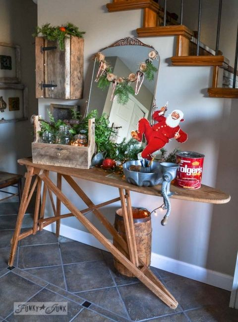 funky junk s christmas home tour 2013 pinterest vintage ironing
