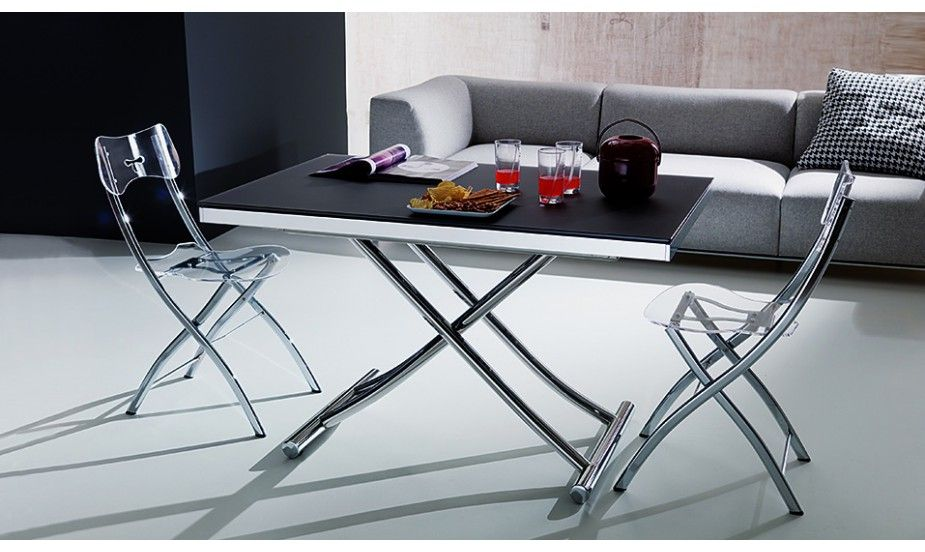 Cette table de salon est transformable en une table parfaite pour la salle manger son syst me - Table de salon convertible en table de salle a manger ...