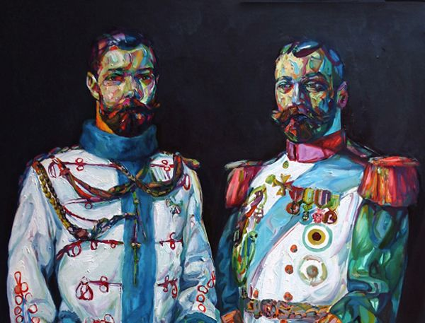 """Painting from the series """"Bearded Blokes"""" by Aaron Smith"""