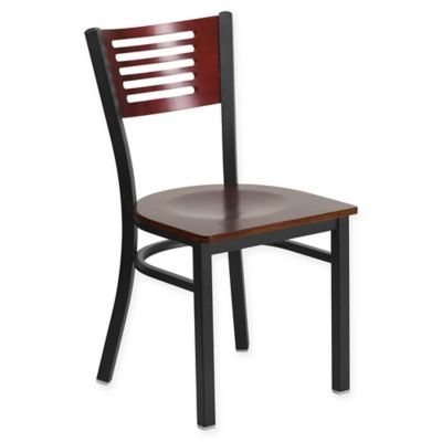 Vitra Standard Chair In Dark Oak And Japanese Red By Jean Prouve