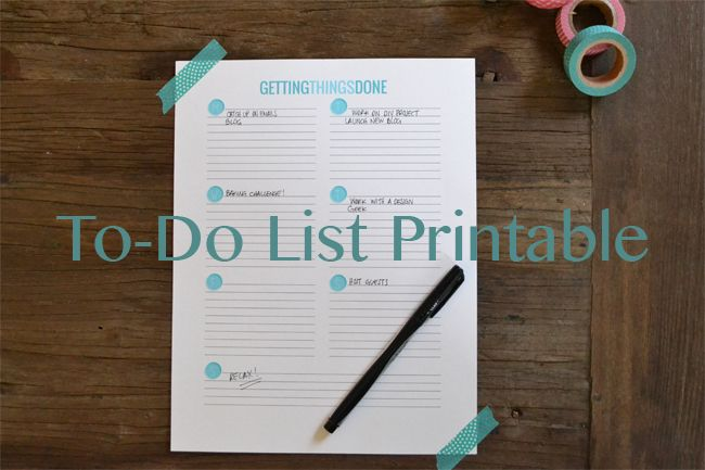 business printable to do list
