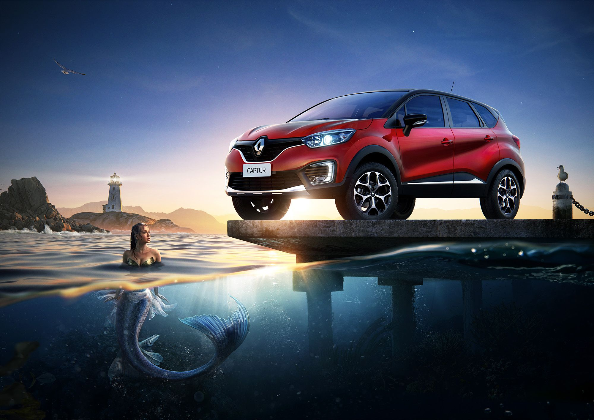 Renault Captur Mermaid Making Of On Behance