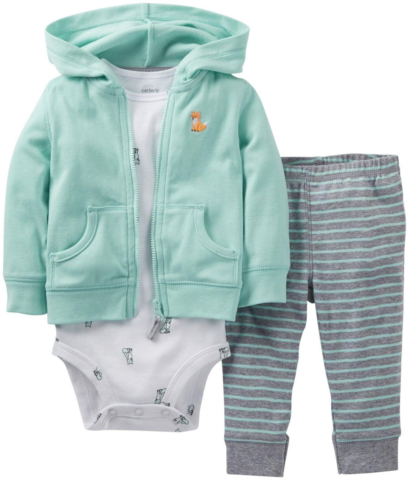 0655ad26a4ae Amazon.com  Carter s Baby Boys  3 Piece Cardigan Set (Baby) - Mint ...