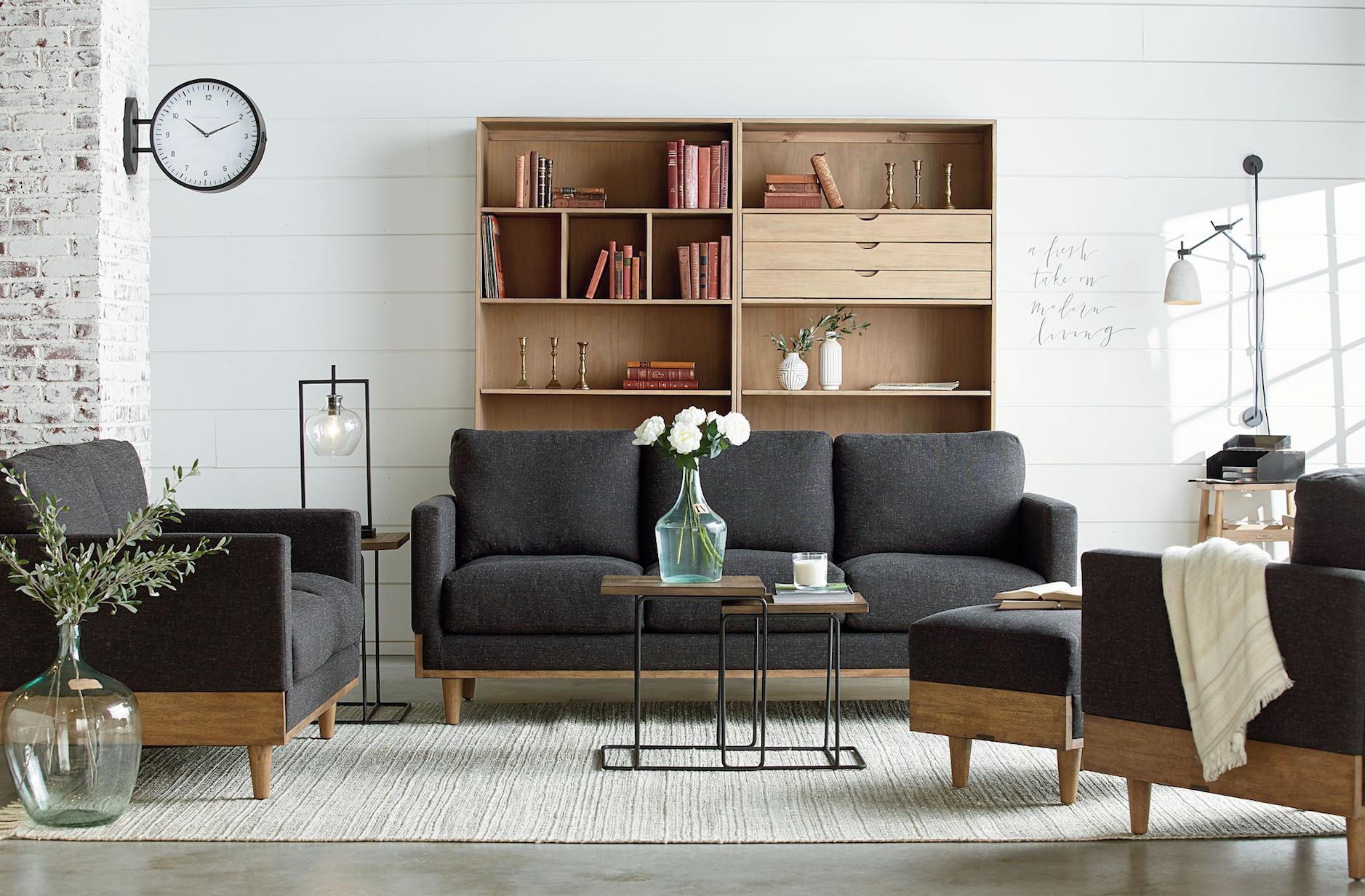 Magnolia home circa charcoal sofa