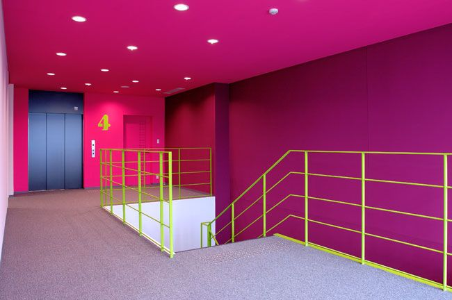 GRAPHIC AMBIENT Blog Archive Senzoku Gakuen College Of Music Japan Colorful Interior DesignColorful