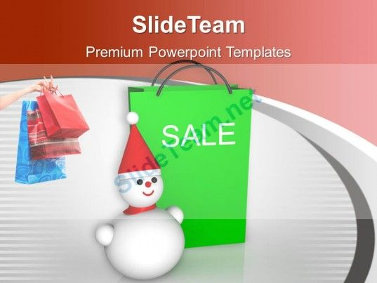 Christmas Sale Bags Winter Items Discount Powerpoint Templates Ppt - winter powerpoint template
