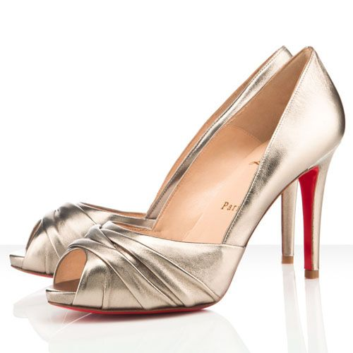 Christian Louboutin Matrinana Leather Special Occasion 100mm Alb