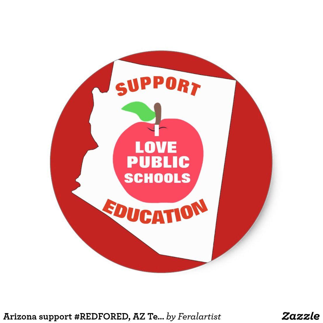 Arizona support redfored az teachers stickers