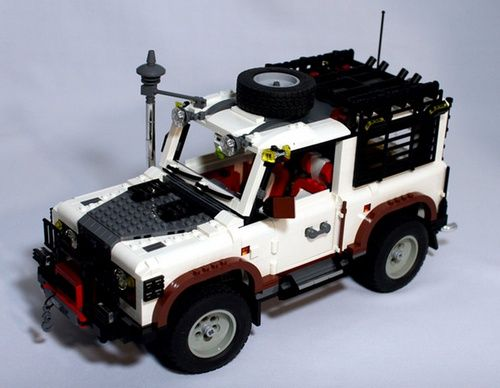 This Remote Control Lego Land Rover Defender 90 Has Four Wheel