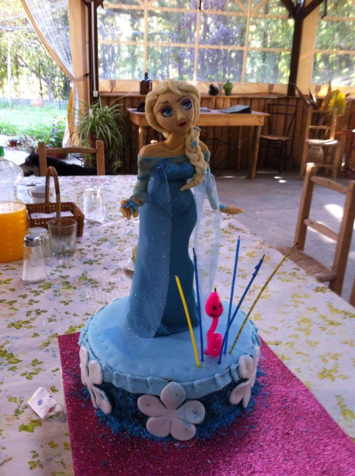 Elsa frozen Cake - figura de Azucar