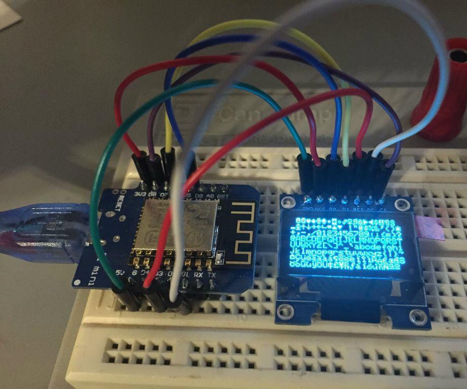Wemos D1 Mini 0 96 Inch Ssd1306 Oled Display Using Spi Electronics Projects Diy Electronics Projects Mini